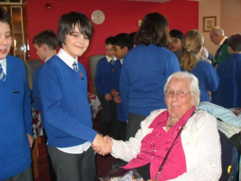 Meeting residents of local care home