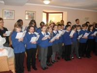 Carol singing at local care home